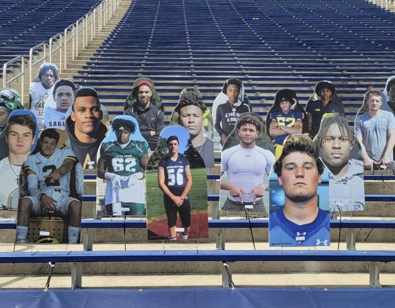 Michigan Football Commits Have Cardboard Cutouts At The Big House