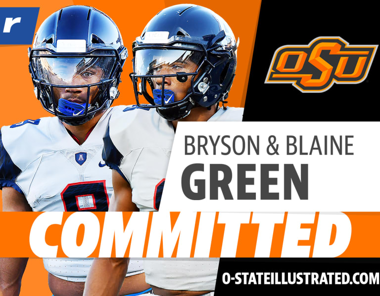 Photo of Texas Twin WRs Bryson and Blaine Green are heading to Oklahoma State